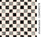 vector hand drawn checkers... | Shutterstock .eps vector #1164540178