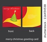 vector merry christmas greeting ... | Shutterstock .eps vector #116454538