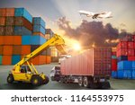 logistics and transportation of ... | Shutterstock . vector #1164553975