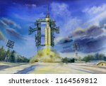 launch of the angara a5p rocket ... | Shutterstock . vector #1164569812