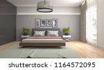 bedroom interior. 3d... | Shutterstock . vector #1164572095