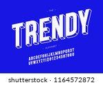 vector trendy font 3d bold... | Shutterstock .eps vector #1164572872