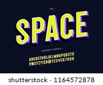 vector space typeface 3d bold... | Shutterstock .eps vector #1164572878