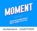 vector moment typeface 3d bold... | Shutterstock .eps vector #1164572935