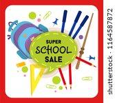 school sale label  badge....   Shutterstock .eps vector #1164587872
