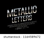 vector set of elegant silver... | Shutterstock .eps vector #1164589672