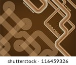 abstract retro lines background | Shutterstock .eps vector #116459326