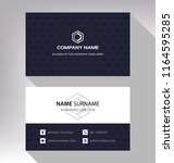 business model name card modern ... | Shutterstock .eps vector #1164595285