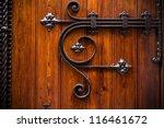 Wooden Door With Metal...