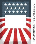 american independence day ... | Shutterstock .eps vector #1164618172