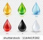 vector set  transparent drops... | Shutterstock .eps vector #1164619282