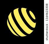 abstract globe stripes sphere ... | Shutterstock .eps vector #1164623308