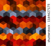 hexagon grid seamless vector...