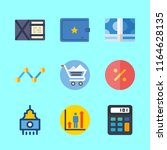 economy icons set. touch  gain  ...   Shutterstock .eps vector #1164628135