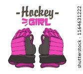 vector hockey girl lettering.... | Shutterstock .eps vector #1164631222