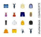 clothes vector icons set. shirt ... | Shutterstock .eps vector #1164631975