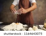 making bread from eggs and... | Shutterstock . vector #1164643075