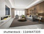 3d rendering loft luxury living ... | Shutterstock . vector #1164647335
