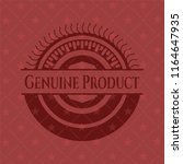 genuine product retro red emblem | Shutterstock .eps vector #1164647935