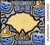 vector poster for halloween... | Shutterstock .eps vector #1164651022