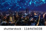 smart city and internet of...   Shutterstock . vector #1164656038