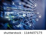 cyber security  data protection ... | Shutterstock . vector #1164657175