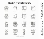 back to school thin line icons...   Shutterstock .eps vector #1164657475