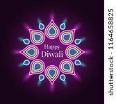 happy diwali  banner in bright... | Shutterstock .eps vector #1164658825