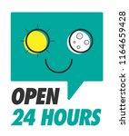 open 24 hours. open shop 24 7.... | Shutterstock .eps vector #1164659428