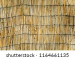 the texture of the dry reeds....   Shutterstock . vector #1164661135