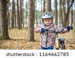 happy kid boy of 3 or 5 years... | Shutterstock . vector #1164662785