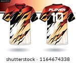 sports jersey template for team ... | Shutterstock .eps vector #1164674338