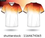 sports jersey template for team ... | Shutterstock .eps vector #1164674365