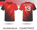 sports jersey template for team ... | Shutterstock .eps vector #1164674422