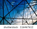 high voltage post.high voltage... | Shutterstock . vector #116467612