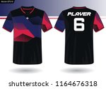 sports jersey template for team ... | Shutterstock .eps vector #1164676318
