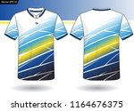sports jersey template for team ... | Shutterstock .eps vector #1164676375