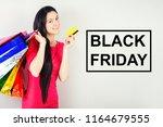 beautiful happy brunette female ... | Shutterstock . vector #1164679555