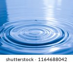 close up drop of water on blue... | Shutterstock . vector #1164688042
