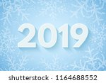 happy new year 2019. festive... | Shutterstock .eps vector #1164688552