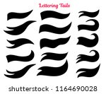 american college tail swooshes... | Shutterstock .eps vector #1164690028