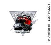off road atv buggy logo ... | Shutterstock .eps vector #1164692275