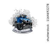 off road atv buggy logo  smoke... | Shutterstock .eps vector #1164692278