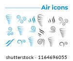 wind icons nature  wave flowing ... | Shutterstock .eps vector #1164696055