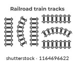 railroad train tracks vector.... | Shutterstock .eps vector #1164696622