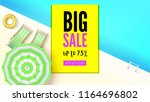 sales action  big summer offer. ... | Shutterstock .eps vector #1164696802