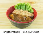 tonkatsu  japanese deep fried... | Shutterstock . vector #1164698005