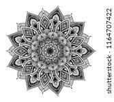 mandalas for coloring  book.... | Shutterstock .eps vector #1164707422