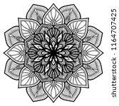 mandalas for coloring  book.... | Shutterstock .eps vector #1164707425