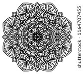 mandalas for coloring  book.... | Shutterstock .eps vector #1164707455